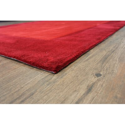Payeur�Transitional Hand Woven Solid Red Indoor Area Rug