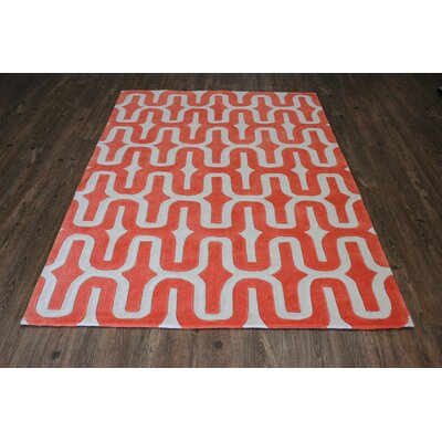 Transition Hand-Tufted Orange Area Rug