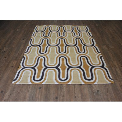 Transition Hand-Tufted Yellow Area Rug