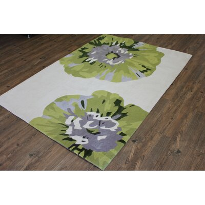 Transition Hand-Tufted White Area Rug