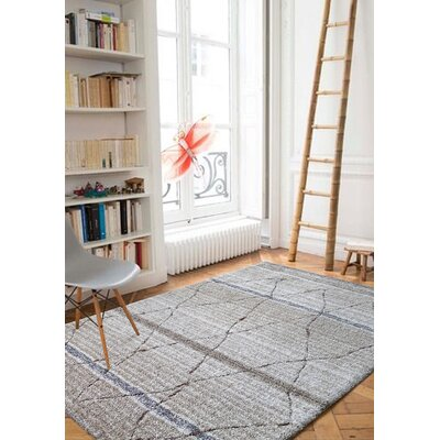 Pecoraro One-of-a-Kind-Hand Tufted Beige/Gray Area Rug Rug Size: Rectangle 76 x 103