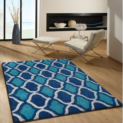Moro Shag Hand-Tufted Blue Area Rug