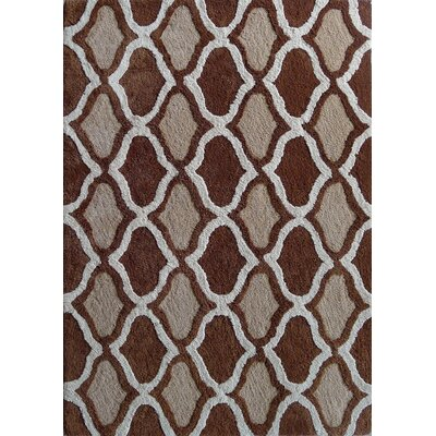 Moroccan Shag Hand-Tufted Brown Area Rug