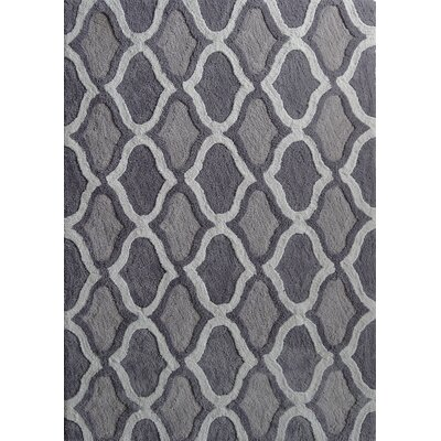 Moroccan Shag Hand-Tufted Gray Area Rug