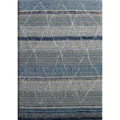 Moroccan Shag Hand-Tufted Blue Area Rug