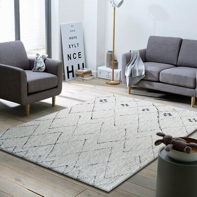 Moro Shag Hand-Tufted Gray/Black Area Rug