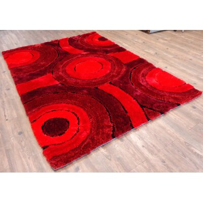 Queanbeyan Shaggy Hand-Tufted Red Area Rug