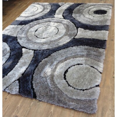 Queanbeyan Shaggy Hand-Tufted Gray/Black Area Rug