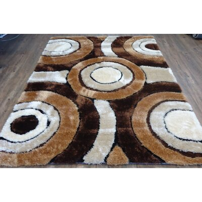 Zaire Geometric Design Hand-Tufted Brown Area Rug Rug Size: Rectangle 76 x 103