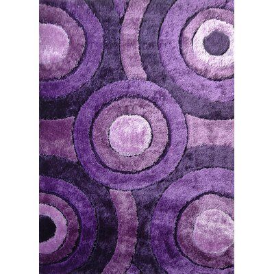 Sigiriya Hand-Tufted Lavender Area Rug Rug Size: Rectangle 5 x 7
