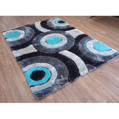 Queanbeyan Shaggy Hand-Tufted Gray/Blue Area Rug