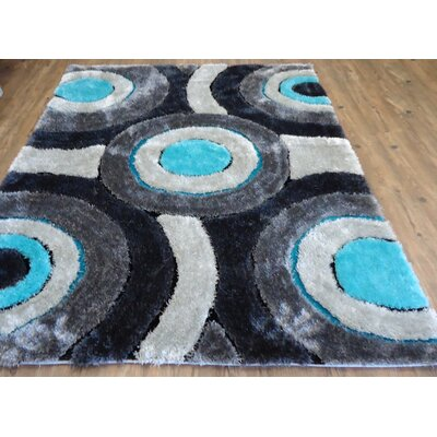 Living Shag Hand-Tufted Gray Area Rug