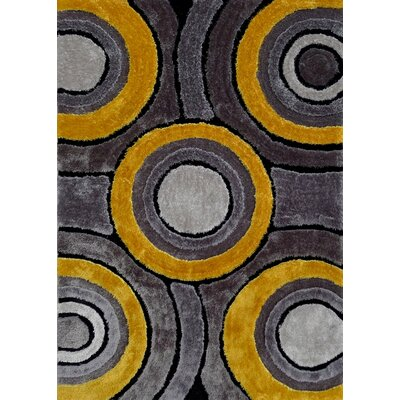 Sibdon Hand-Tufted Gray/Yellow Area Rug Rug Size: Rectangle 5 x 7