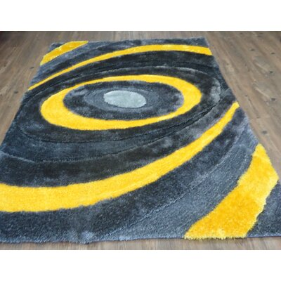 Clarksville Geometric Design Hand-Tufted Yellow Area Rug Rug Size: Rectangle 76 x 103