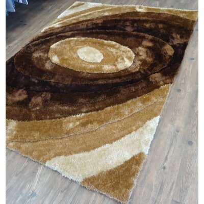 Qualls Hand-Tufted Brown Area Rug