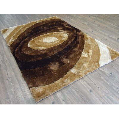 Zager Geometric Design Hand-Tufted Brown Area Rug Rug Size: Rectangle 76 x 103