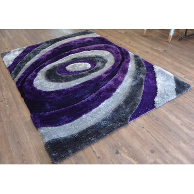 Clapham Geometric Design Hand-Tufted Blue/Brown Area Rug Rug Size: Rectangle 76 x 103