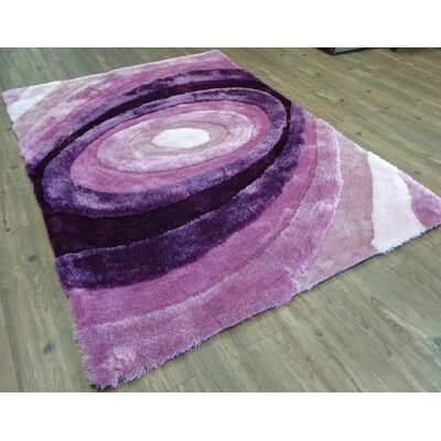 Qualls Hand-Tufted Lavender Area Rug