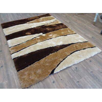 Cleve Hand-Tufted Brown Area Rug Rug Size: Rectangle 76 x 103