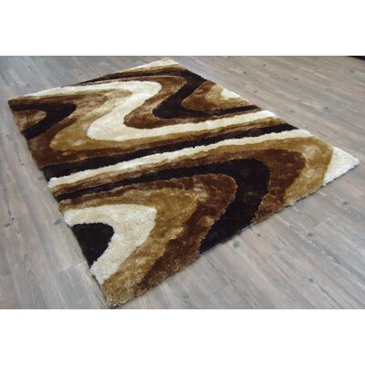 Clerkin Hand-Tufted Brown Area Rug Rug Size: Rectangle 7'6