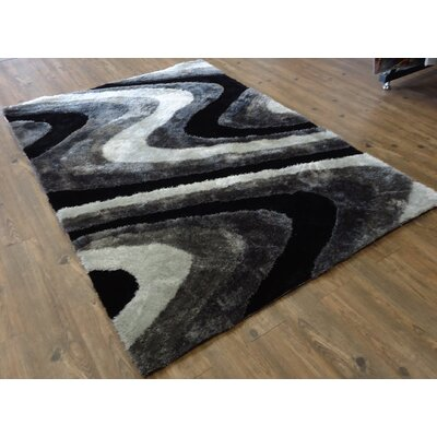 Living Shag Hand-Tufted Gray Indoor/ Outdoor Area Rug