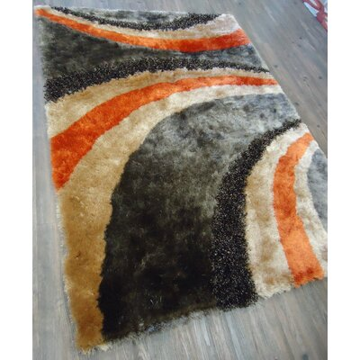 Xzavier Modern Hand Tufted Brown/Orange Area Rug Rug Size: Rectangle 5 x 7