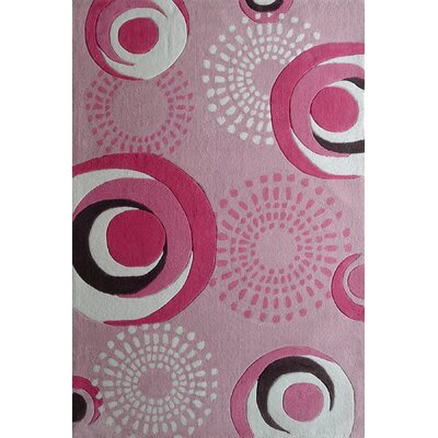 Zoomania Hand-Tufted Pink Area Rug