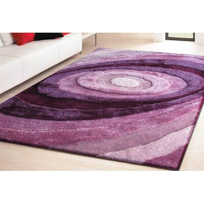 Living Shag Hand-Tufted Lavender Area Rug