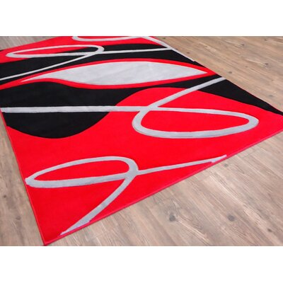 Hagood Red Area Rug Rug Size: Rectangle 710 x 106