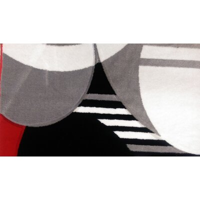Haile Red/Black Area Rug Rug Size: Rectangle 54 x 75