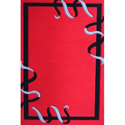 Haight Red Area Rug Rug Size: Rectangle 710 x 106