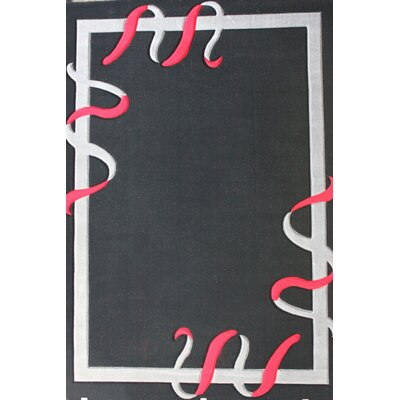 Geo Hand-Tufted Black Area Rug