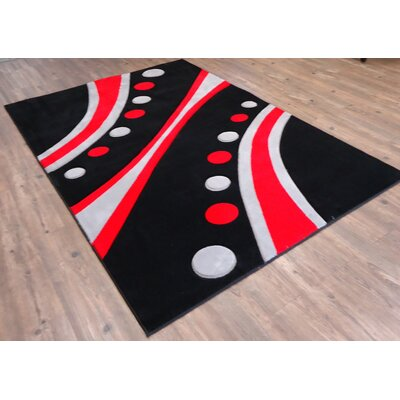 Hakes Black Area Rug Rug Size: Rectangle 54 x 75