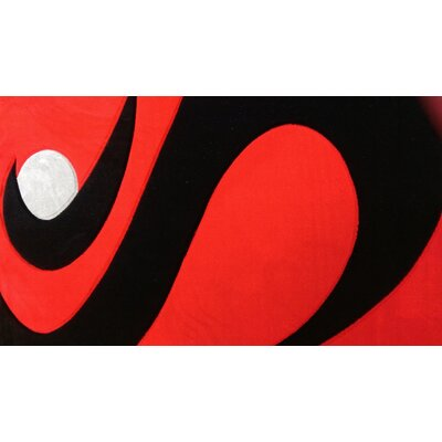 Velden Red/Black Area Rug