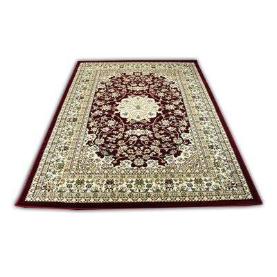 Linde Oriental Burgundy/Beige Area Rug Rug Size: Rectangle 54 x 75
