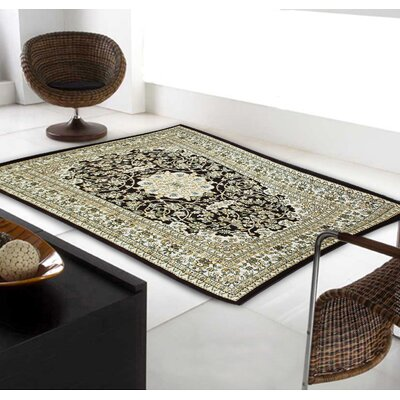 Linde Oriental Brown Area Rug Rug Size: Rectangle 54 x 75