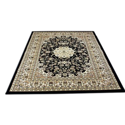 Bonsai Traditional Oriental Black Area Rug Rug Size: Rectangle 5'4