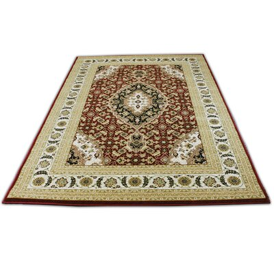 Linde Oriental Burgundy/Beige Area Rug Rug Size: Rectangle 710 x 106