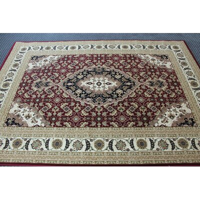 Boody Traditional Oriental Beige/Brown Area Rug Rug Size: Rectangle 54 x 75