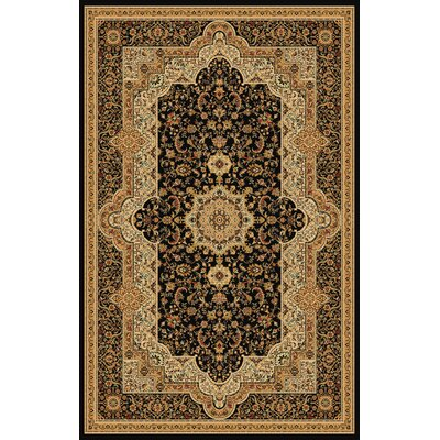 Boody Traditional Oriental Black Area Rug Rug Size: Rectangle 710 x 106