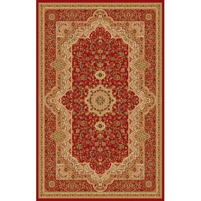 Boody Traditional Oriental Burgundy Area Rug Rug Size: Rectangle 54 x 75