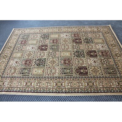 Boody Traditional Oriental Ivory Area Rug Rug Size: Rectangle 54 x 75
