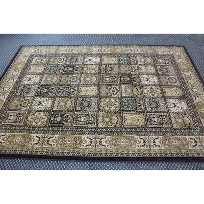 Bonsai Traditional Oriental Brown Area Rug Rug Size: Rectangle 54 x 75