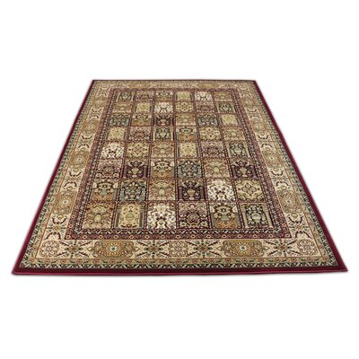 Linde Oriental Burgundy/Brown Area Rug Rug Size: Rectangle 54 x 75