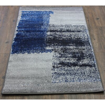 Fusion Turquoise/Silver Indoor/Outdoor Area Rug Rug Size: 5 x 8