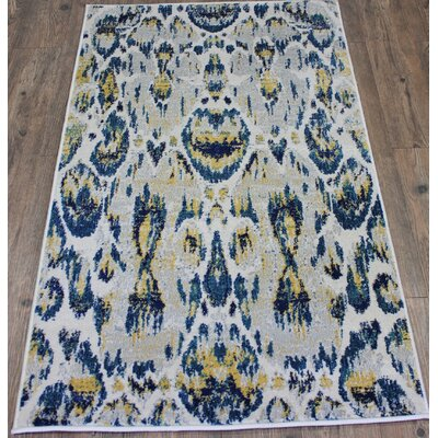 Fushion Blue Area Rug