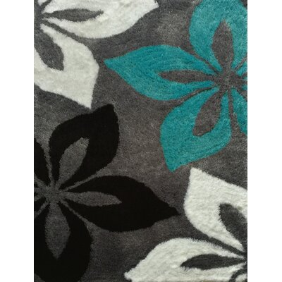 Lola Hand-Tufted Gray/Turquoise Area Rug