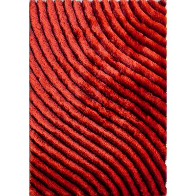 Mcentire Design Hand-Woven Red Area Rug