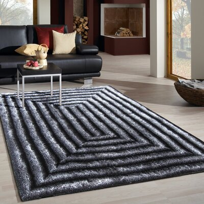 Crompton Hand Tufted Gray Area Rug Rug Size: Rectangle 76 x 103