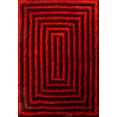 Mcfaddin Design Hand-Woven Red Area Rug